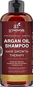 Art Naturals Organic Argan Oil Hair Loss Shampoo for Hair Regrowth 16 Oz - Sulfate Free - Best Treatment for Hair Loss, Thinning & Aging - Product For Men & Women - Includes Biotin - 3 Month Supply