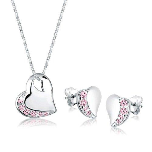 Elli 0906241212_45 Swarovski Crystal Sterling Silver 925 Jewellery Set