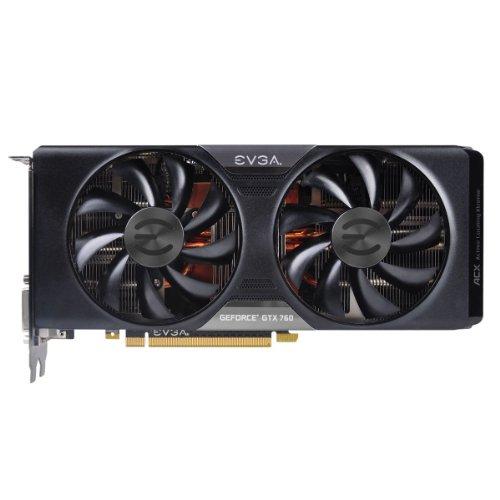 EVGA GF GTX 760 Grafikkarte NVIDIA (PCI-e, 4GB, GDDR5 Speicher, HDMI, 1 GPU)