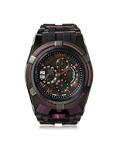 Invicta Men's 12678 Bolt Black/Purple Silicone Watch