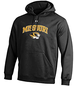 Missouri Tigers Black Under Armour Synthetic Performance ColdGear Hooded Sweatshirt by UA