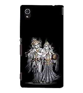 printtech Lord God Radha Krishna Back Case Cover for Sony Xperia M4 Aqua::Sony Xperia M4 Aqua Dual