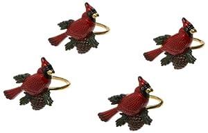Lenox Cardinal Napkin Rings, Set of 4, Gold