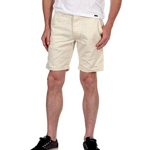 Jack & Jones Herrenhose, Herren Short, kurze Hose, Field Chino Linen Shorts, Farbe:weiss;Größe:L