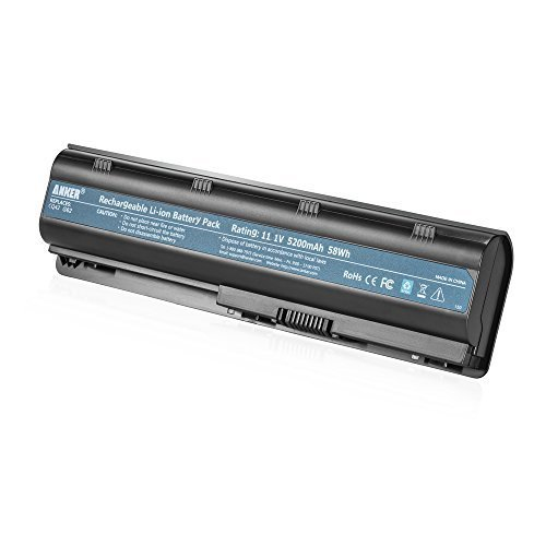 Anker High Performance 5200mAh/58Wh Laptop Battery for HP G32 G42 G42T G56 G62 G72 G4 G6 G6T G7; HP Presario CQ32 CQ42 CQ43 CQ430 CQ56 CQ62 CQ72; Envy 17; HP Pavilion DM4 DV3-4000 DV5-2000 DV6-3000 (Hp Mu06 Battery compare prices)