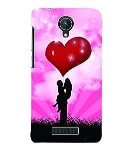 Fuson 3D Printed Valentine Designer Back Case Cover for Micromax Canvas Spark Q380 - D624