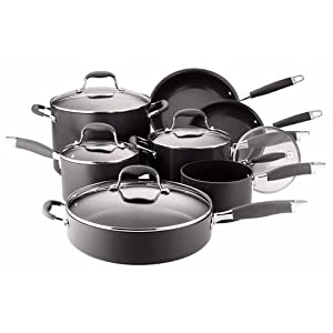 Click to buy Cookware Reviews: Anolon Advanced Nonstick Hard-Anodized Aluminum 12-Piece Cookware Set from Amazon!