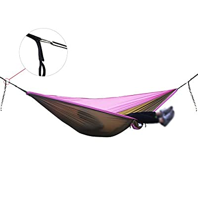 Ticket to the Moon Style Parachute Silk Hammock (Double 290cm x 200cm) various colours Travel Camping Hammock