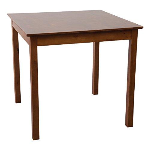 Tisch-LUCCA-80-x-80-cm-Birke-massiv-in-Nussbaum-gebeizt-Esszimmertisch-Kchentisch-Top-Qualitt-Perfekt-fr-privat-und-Restaurants