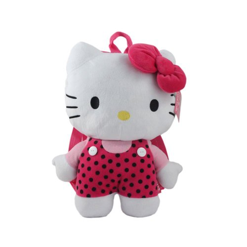 Hello Kitty Plush Backpack Pink or Polka Dot - 1