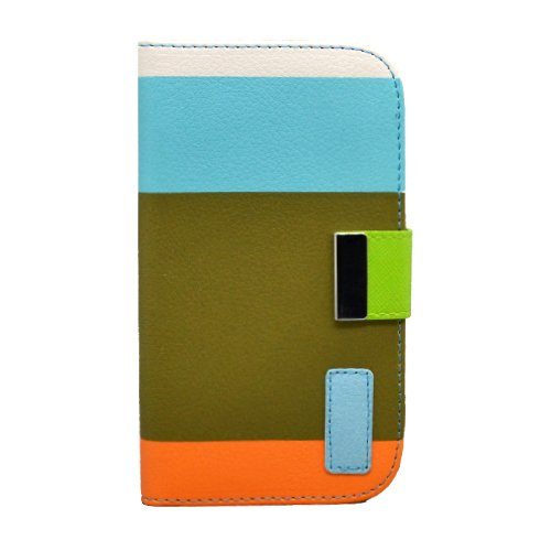 Generic Wallet Pu Leather Case Card Holder Flip Case Cover For Samsung I9300 Galaxy S3 - Retail Packaging - Blue/Brown/Orange