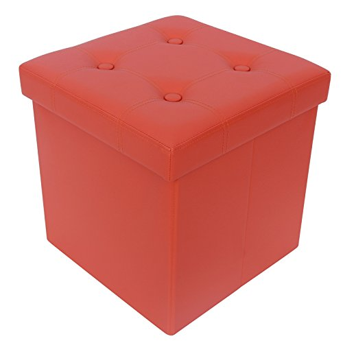Songmics 15 Quot Collapsible Tufted Storage Ottoman Kids Toy