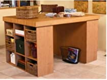 Hot Sale Venture Horizon Project Center Desk with 2 Bookcase Sides