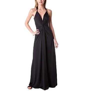 Promod longue robe de soiree noir xs amazonfr vetements for Robe promod noire