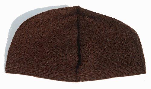 ba4a7da3d84 Dark Brown Skull Cap - One-size Machine-knit Muslim Islamic Kufi Takke Peci