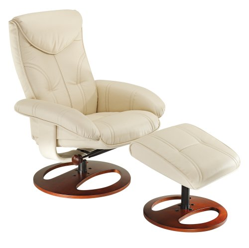 Soft Touch Vanilla Swivel Recliner Good Fit For Small