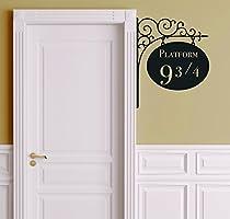 Platform 9 3/4 Version 2 Harry Potter Door Decor - Wall Decal Vinyl Sticker W21 12