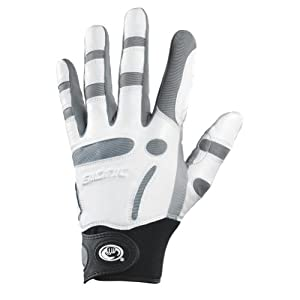 Bionic Men's RelaxGrip Left Hand Golf Glove, White/Black, Large