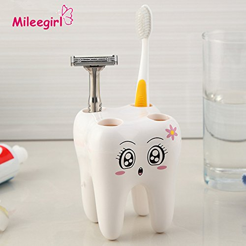 GreenSun(TM) Teeth Style Toothbrush Holder,4 Hole Cartoon Toothbrush Stand Tooth Brush Shelf,Bracket Container Bathroom Accessories Set (Fire Truck Toothbrush Holder compare prices)