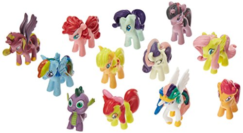 OliaDesign Set of 12 Little Pony PVC Toy Cake Topper Twilight Sparkle Figure Set
