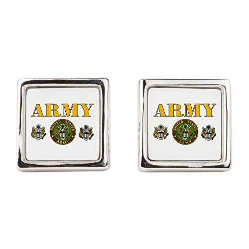 Cufflinks (Square) United States Us Army Military Seal