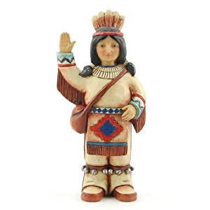 Enesco 4027806 Jim Shore Heartwood Creek Mini-Inchdian Figurine, 4-Inch