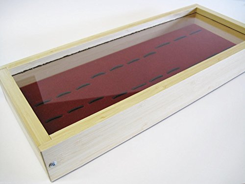 Bamboo Wood Knife Display Case for Pocket Knives Folding Hunter Etc ~ Collector Gift Box ~ Buck 110 112 301