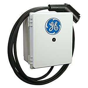 GE EV Charger Indoor/Outdoor Level-2 DuraStation Wall Mount with 18 ft. Cord