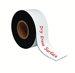 MasterVision Magnetic Dry Erase Tape Roll, 3 Inches x 50 Feet, White (FM2218)