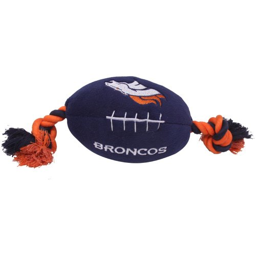 Denver Broncos Pet Football Rope Toy, 6-Inches long