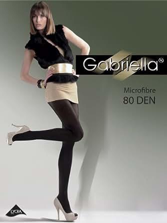 Gabriella Collants Opaques / Coloré Microfibre Collants 80 DEN - Idéal pour les journées froides (Cappuccino, S (32-36))