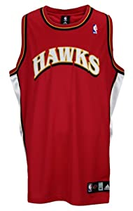 Atlanta Hawks NBA Authentic Blank Team Jersey, Red by adidas