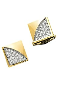 14K Yellow Gold Diamond Cuff Links - .92 ct. Diamonds-86140