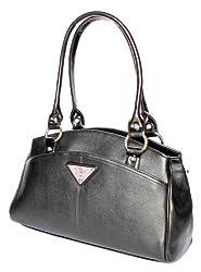 Stonkraft Womens Shoulder Bag (Black) (FxLthrBlkBag77)