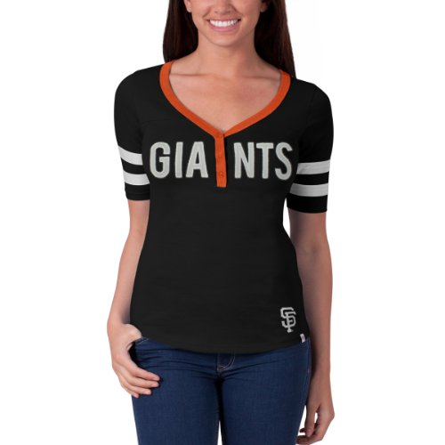 Mlb San Francisco Giants Women'S First Up Tee, Small, Jet Black front-947639