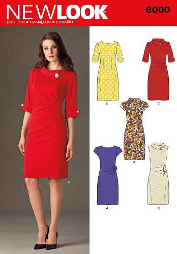 New Look Sewing Pattern 6000 Misses' Dresses, Size A (4-6-8-10-12-14-16) (New Sewing Patterns compare prices)