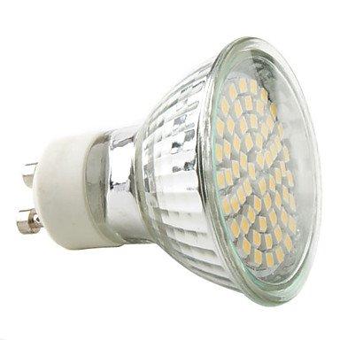 Gu10 3W 60X3528 Smd 150-230Lm 2800-3300K Warm White Light Led Spot Bulb (220-240V)