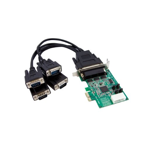Startech.Com Scheda PCI Express Seriale Nativa Basso Profilo a 4 Porte RS-232 con 16950 UART,