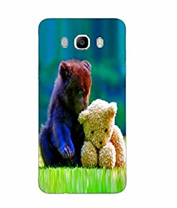 Samsung Galaxy J7 2016 Love Printed Blue Hard Silicon Back Cover By Snazzy