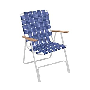 Rio Brands Llc RIO BRANDS BY105-0138 Hi Back Web Chair, Blue at Sears.com