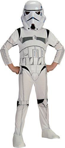 Boys Stormtrooper Kids Child Fancy Dress Party Halloween Costume
