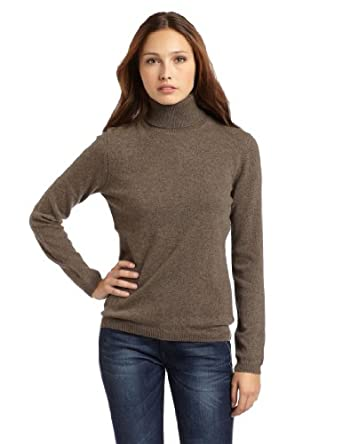 Sofie Women's Long Sleeve 100% Cashmere Turtle Neck Sweater, Porcupine, Medium