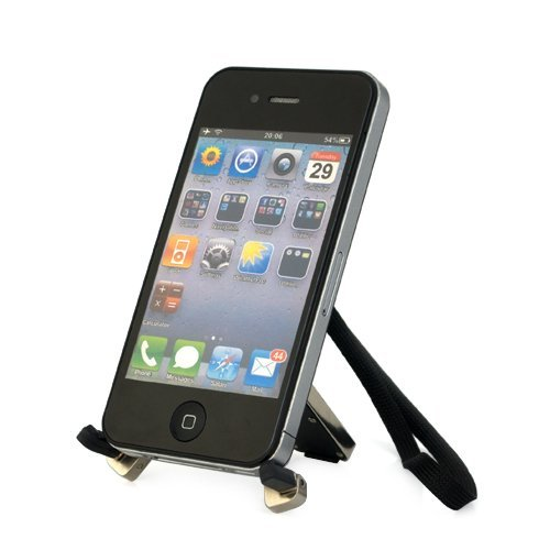 Ikross Universal Mini Folding Mobile Phone Stand Holder - Black For Lg, Nokia, Sanyo, Htc, Google, T-Mobile, Motorola, Samsung, Android, Iphone, Blackberry And Windows