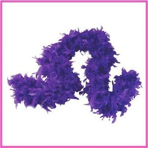 Purple Chandelle Feather Boa for Girls Princess Tea Party Dress up Costume by RH+O