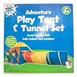 KIDS PLAY TENT & TUNNEL SET - SUITABLE INDOORS & OUTDOORS - GREAT FOR ROLE PLAY & ADVENTURE by Bid Buy Direct