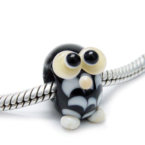 Beads Modul - Glas-Bead - Eule schwarz - 650