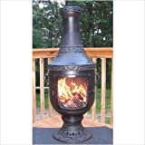 41CU2bhNdqL. SL160  Venetian Style Chiminea with Gas Kit and Cover Chiminea Color: Charcoal