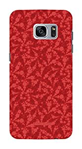 Koveru Back Cover Case for Samsung Galaxy S7 - Popdots scarlet