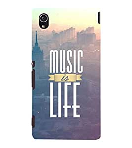 EPICCASE Music is life Mobile Back Case Cover For Sony Xperia M4 Aqua Dual (Designer Case)