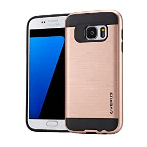 Crazy4Gadget VERUS for Samsung Galaxy S7 / G930 Brushed Texture Silicone + TPU Protective Case(Rose Gold)